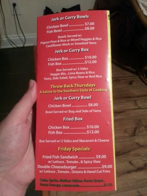 And this is their whole menu.