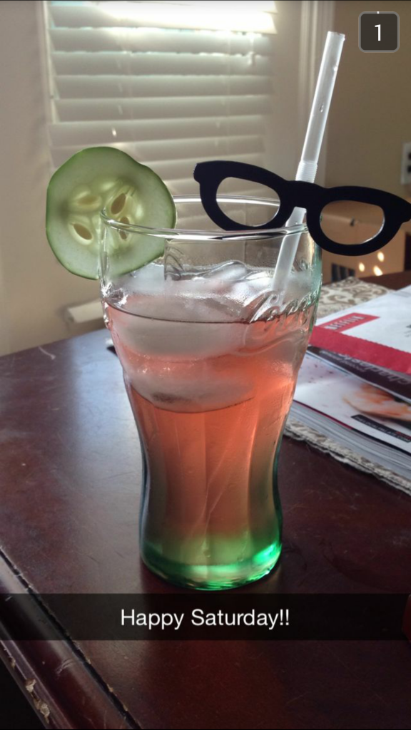 Because straws with hipster glasses are all the rage in mixology today.