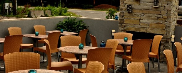 I couldn't find a picture of the cornbread, so here's another picture of the patio! via Sweeney's.com