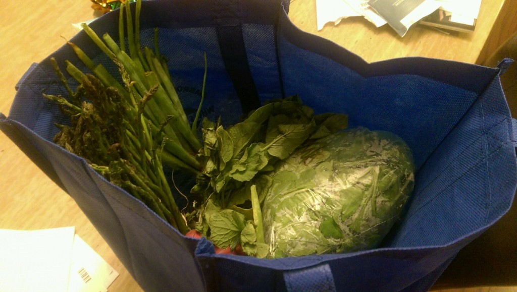 I've got a pocket, got a pocket full of swiss chard.