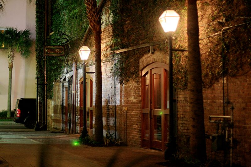 That brickwork is even sexier at night.