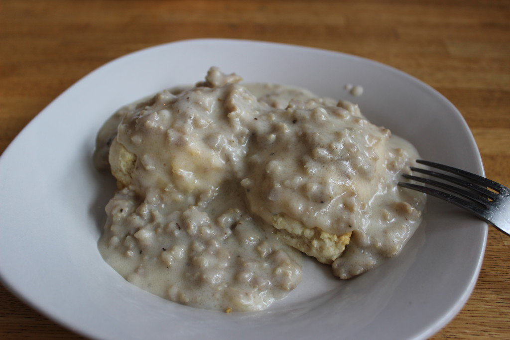 I'm the Goldilocks of sausage gravy.