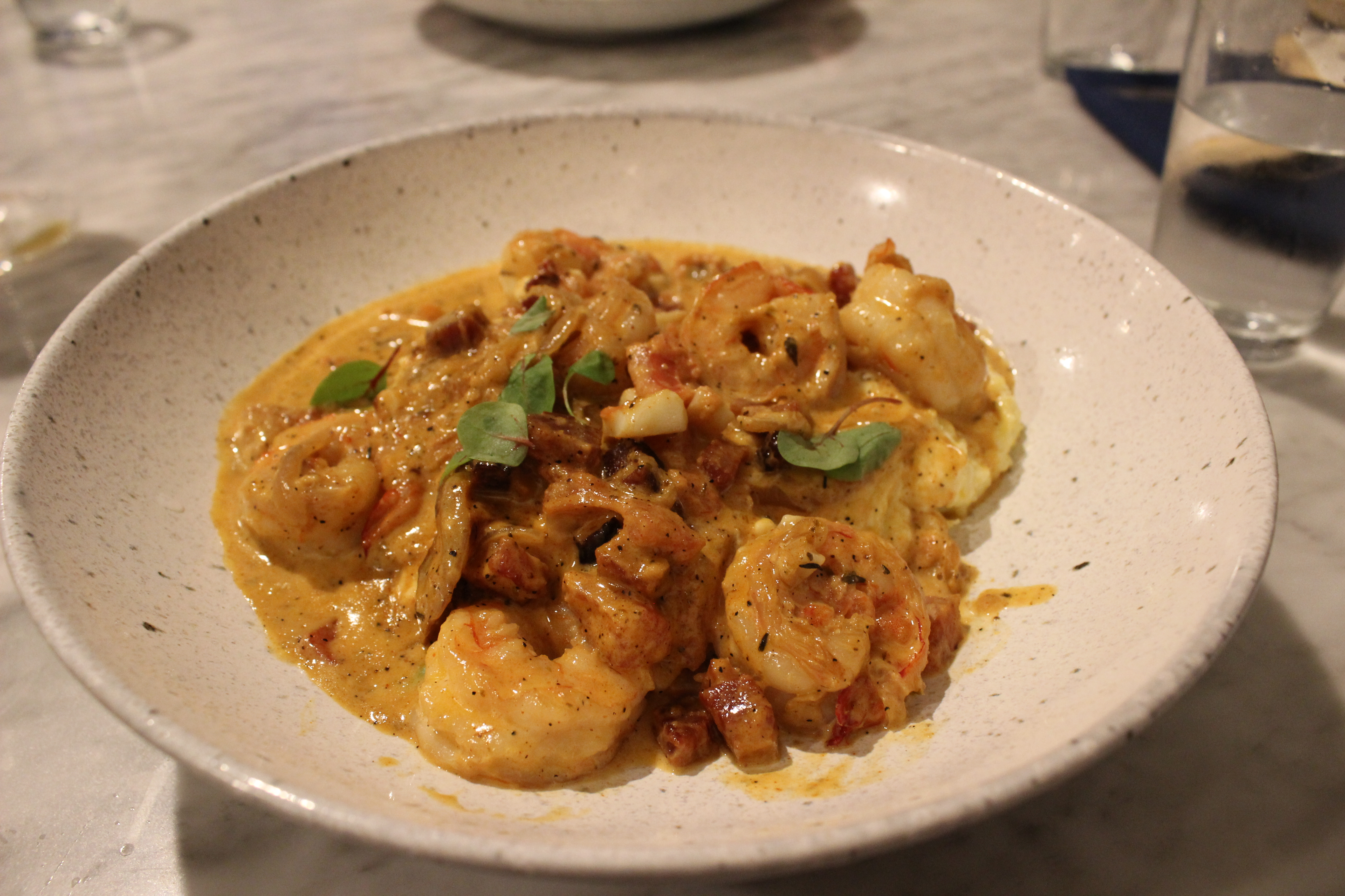 Life-changing shrimp and grits.