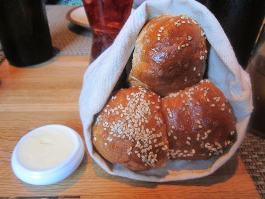 I think Ben and I ate at least 3 baskets of benne rolls in approximately 2 minutes.
