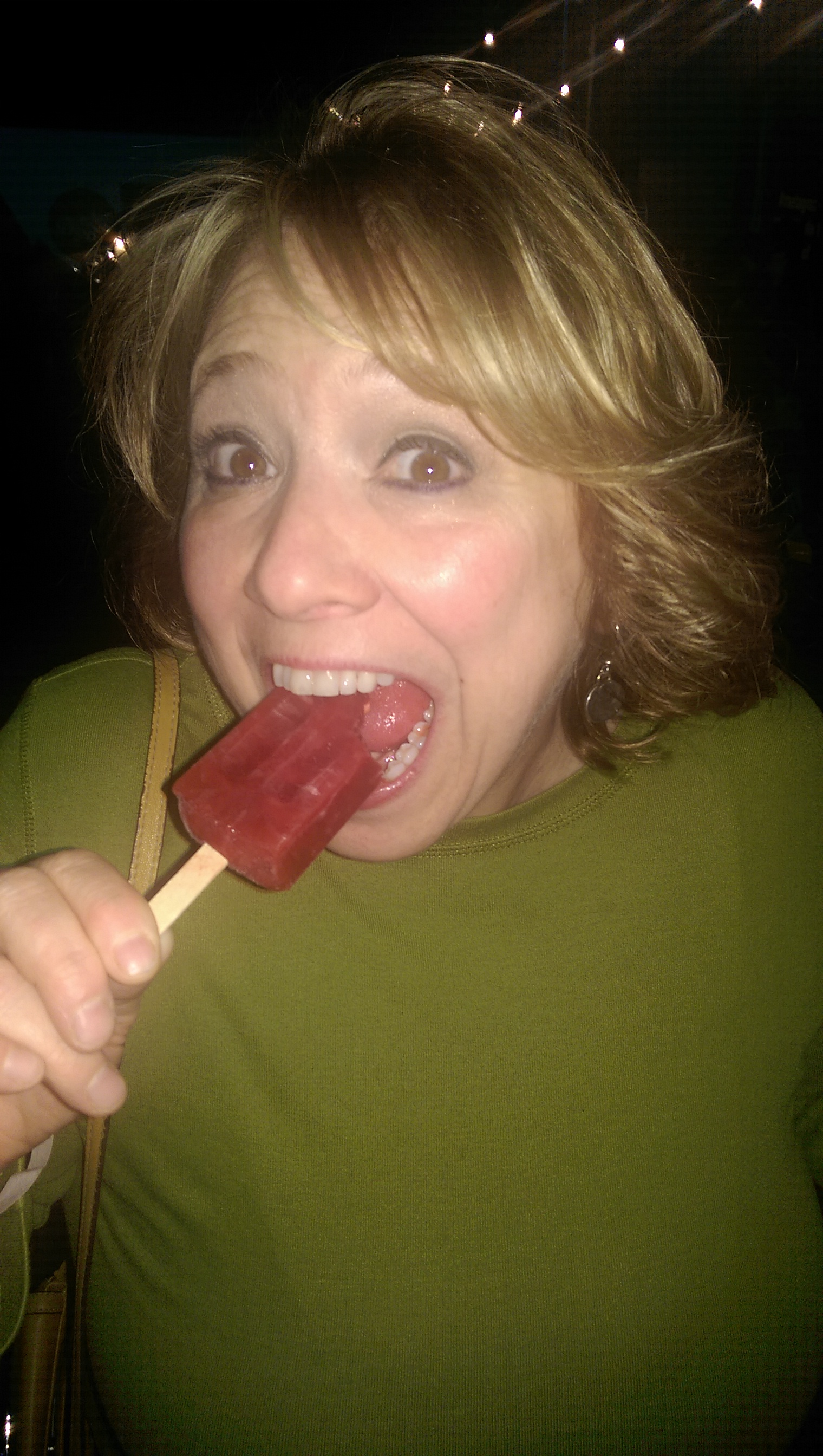 She was really excited about the popsicle. And basically everything else.