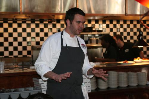 Chef Garrett in his natural habitat.