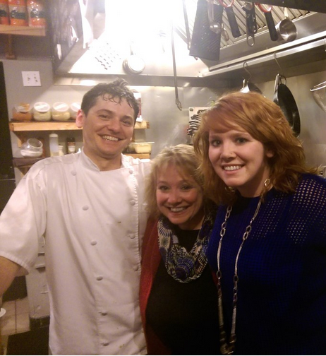 Chef Ross and the peanut gallery.