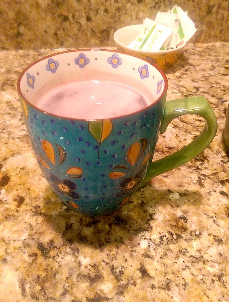 And it was especially delicious in my coffee mug from the Charleston Tea Plantation!