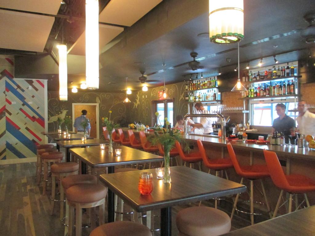 The bar area. How comfy!