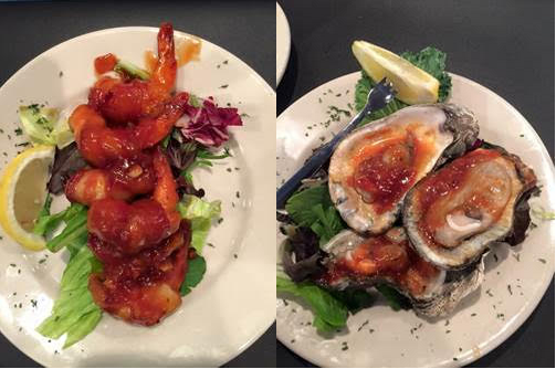 Barbeque Shrimp & Chargrilled Oysters from Cove Oyster Bar & Grille
