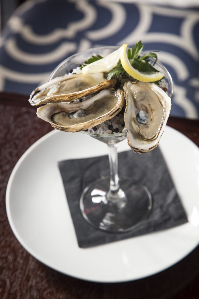 I think all oysters should be served in Martini glasses.