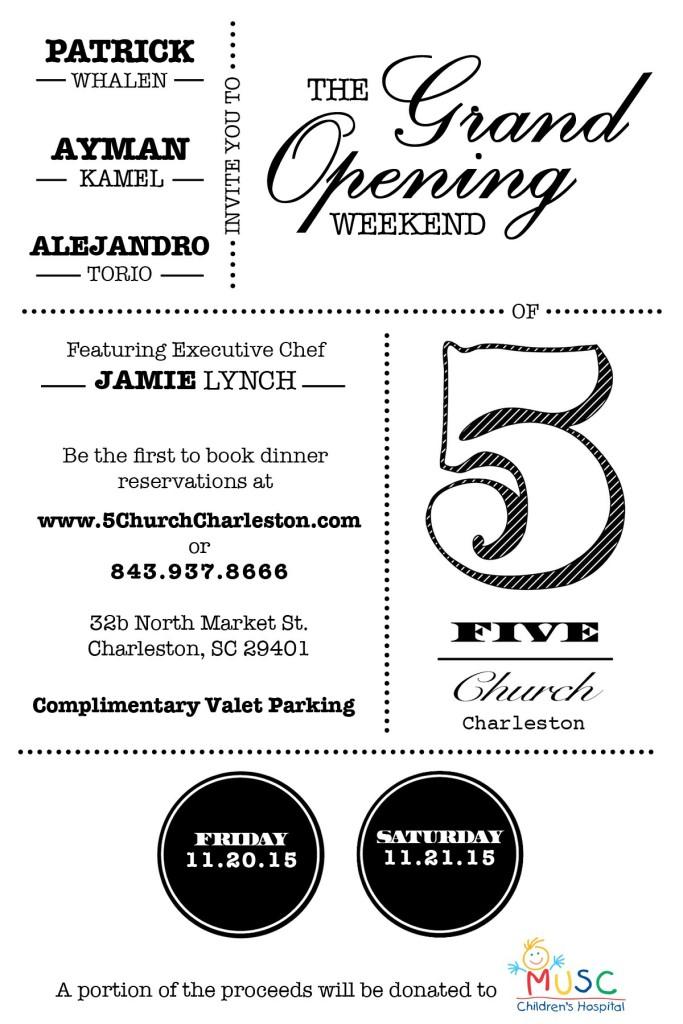 Charleston Grand Opening Weekend Fri Nov 20 2015